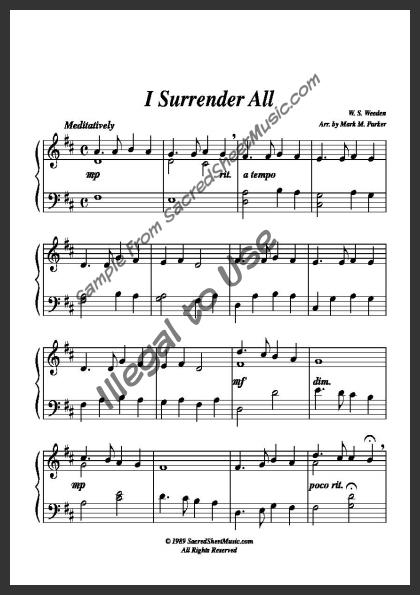 how to play i surrender all on keyboard