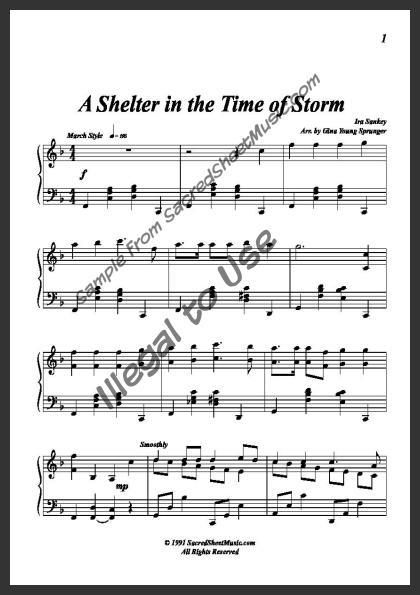 A Shelter In The Time Of Storm Sacredsheetmusic Com