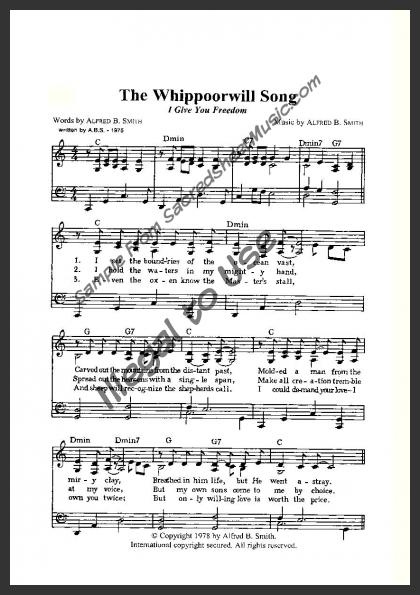 The Whippoorwill Song | SacredSheetMusic com